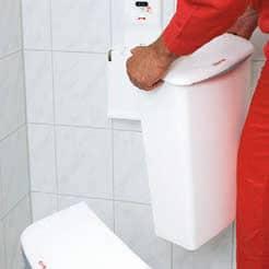 Hygienebox Paradise wandhängend Non-Touch weiss beim Tausch