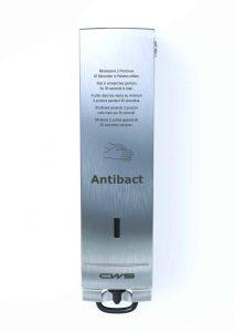 Antibact Slim Edelstahl - Seifenschaumspender Paradise Stainless Steel Antibact Slim antibakterielles Händewaschen Edelstahl front