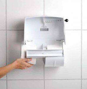 Toilettenpapierspender Paradise Toiletpaper von Innen beim Toilettenpapier einlegen