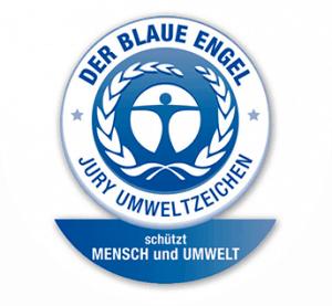 Umweltzeichen Blauer Engel - Auzeichnung für Stoffhandtuchspender mit Stoffhandtuchrollen