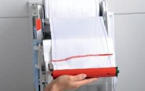 Handtuchspender Paradise Dry Slim Touch und Non-Touch weiss - Wechsel der Stoffhandtuchrollen
