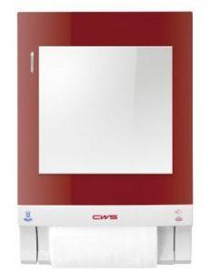 toffhandtuchspender Paradise Dry Slim Touch und Non-Touch rot mit Spiegelaufsatz