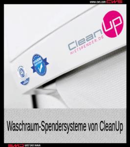 Schmutzfangmatte mit Firmenlogo CleanUp ausgestattet - Schmutzfangmatten mieten mit Full-Service bundesweit