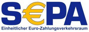 "offizielles SEPA-Logo mit Schriftzug ""Einheitlicher Euro-Zahlungsverkehrsraum"""