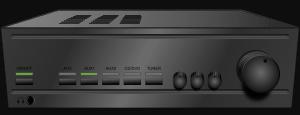 Teendfarben schwarz - Abbildung einer Stereoanlage