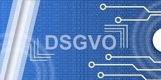 DSVGO Logo auf blauem Hintergrund