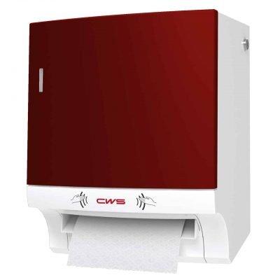 Rollenpapierspender Papadise Paperroll NT berührungslos Non Touch - Front rot rechts