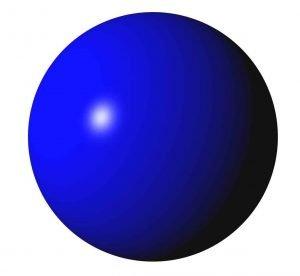 Kugel in Blau