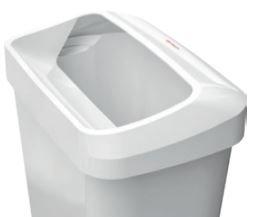 Abfallbehälter weiß - Draufsicht