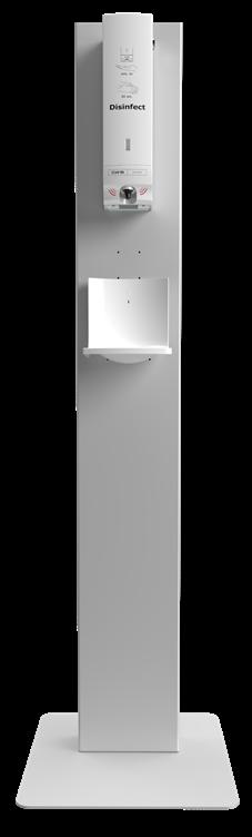 Desinfektionssäule - Disinfect Tower - für Desinfektionsspender mit Desinfektionsgel