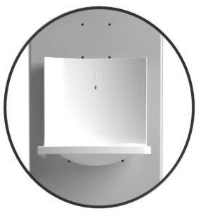 weiße Tropfschale - passend für Desinfektionssäule - Disinfect Tower